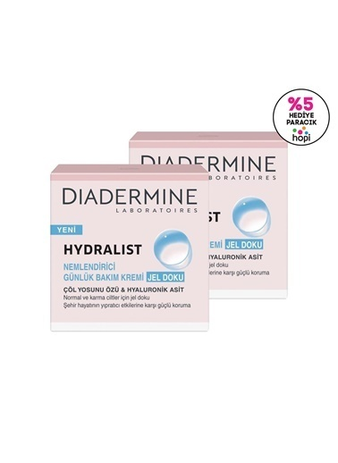 Diadermine Diadermine Hydralist Nemlendirici Günlük Bakım Kremi Jel Doku 50 Ml 2'Li Renksiz